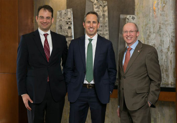 Phil Weiser, dean, University of Colorado Law School; Adam Agron, co-managing partner, Brownstein Hyatt Farber Schreck; and Martin Katz, dean, University of Denver Sturm College of Law.