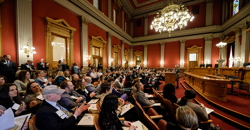 About 160 attended CU Advocacy Day at the Capitol.