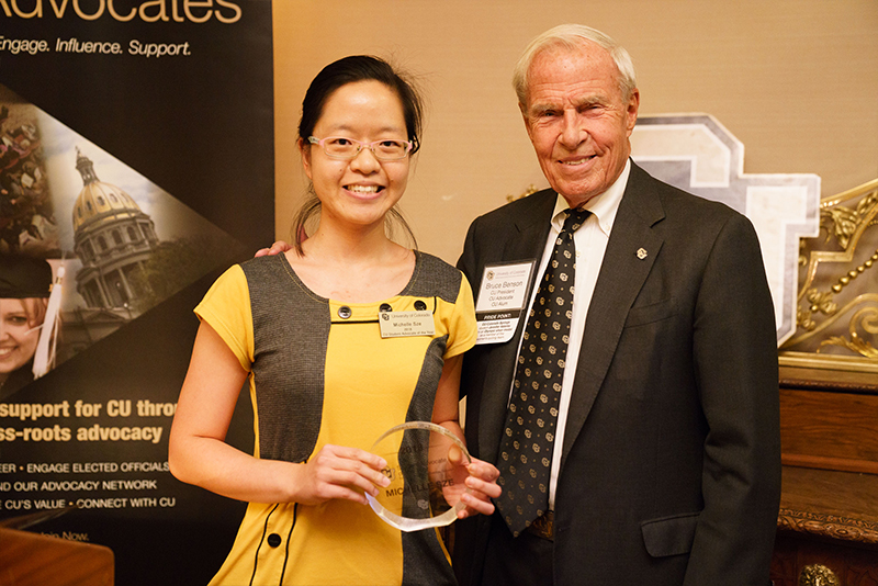 Michelle Sze, CU Student Advocate of the Year
