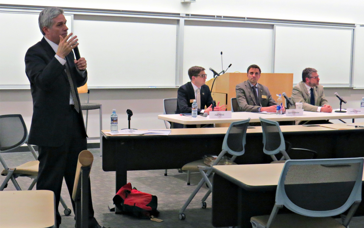 Regent candidates come together for debate