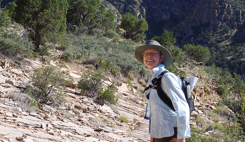 Amy Roberts hiking in the Grand Canyon.