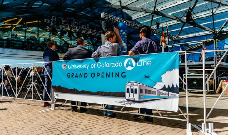Tens of thousands help launch University of Colorado A Line