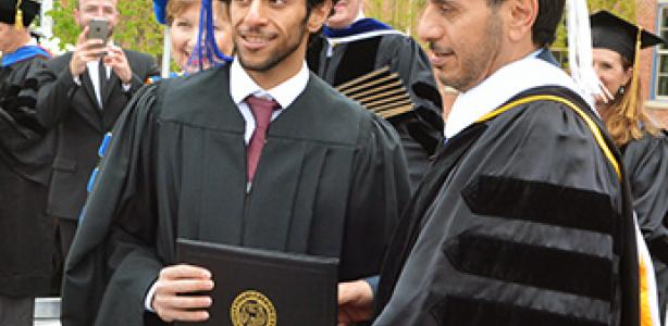 Qatar Prime Minister celebrates son's graduation from CU Denver, forges even stronger relationship with university