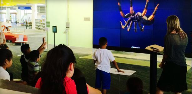 Third-graders explore Auraria Library during campus tour