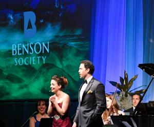 Actors and musicians perform at the inaugural Benson Society gala on Saturday.