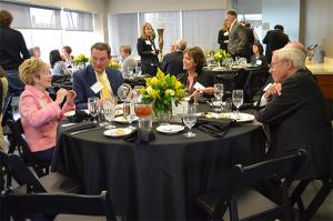 CU first lady March Benson, Tim Schultz, Debbie Jessup and CU President Bruce Benson enjoy the appreciation lunch.
