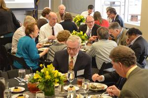 Dozens of CU and Boettcher Foundation representatives who are instrumental in the Boettcher Webb-Waring Biomedial Research Awards program took part in Tuesday's appreciation lunch.
