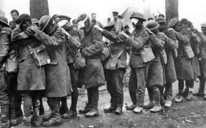 British troops blinded by mustard gas.