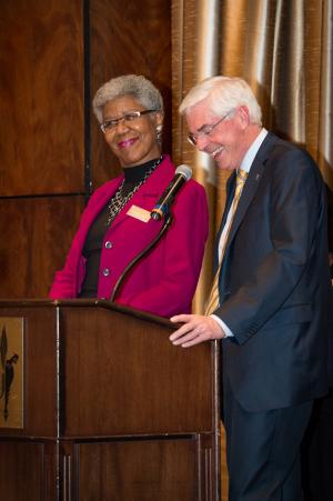 Brenda J. Allen receives the ELP Award from Roderick Nairn.