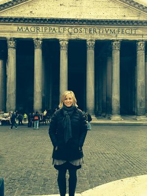 Morgan at the Pantheon in Rome.