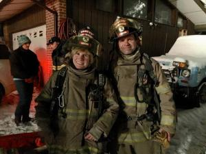 Helen Norton and her spouse, Kenny, serve as volunteer firefighters.
