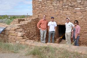 Members of the Lowry Pueblo project team, from left, Mike Nulty, Tucker Hancock, Vince MacMillan and Kimberley Verhoeven.