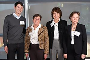 Medical Student Anson Snow with Ann Lowdermilk, Sherrye Berger and Lyda Ludeman of the Achievement Rewards for College Scientists (ARCS) Foundation.