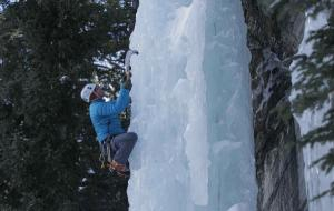 Ice climbing is another of Omer Mei-Dan's extreme sports pursuits.