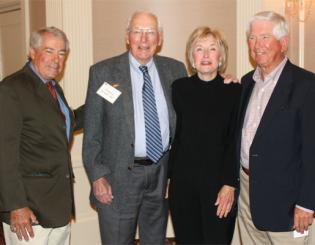 From left, CU School of Medicine alumni Dr. Bill Maniatis ('65), president of the Medical Alumni Association; Dr. Ed Kinzer ('52); Dr. Clara Winter ('65) and Dr. Wag Schorr ('63).