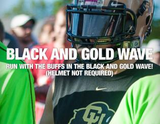 Join Bolder Boulder's Black and Gold Wave