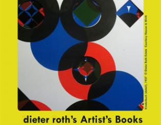 Dieter Roth books on display at CU-Boulder