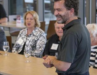 CU President Saliman engages with the UCCS community