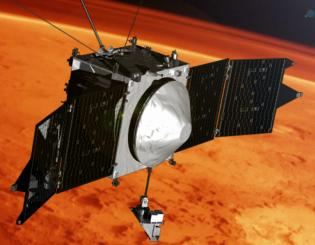 MAVEN selfie marks four years in orbit at Mars