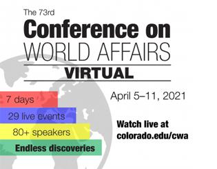 Virtual Conference on World Affairs tackles racism in the U.S., Gen Z, healthcare, more