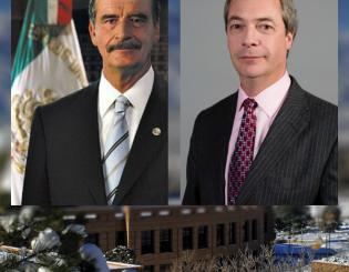 Vicente Fox, Nigel Farage will visit campus April 3
