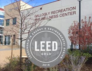 Gallogly Recreation and Wellness earns green building award