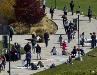 Photo/video feature: UCCS Homecoming 2016 kicks off with new Chalk the Walk event