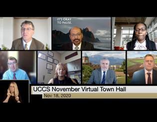 November Town Hall reinforces mental health, enrollment as top priorities