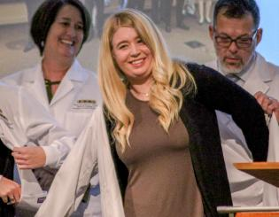 113 nursing students receive their White Coats in inaugural ceremony