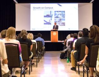 Reddy celebrates campus achievements and speaks on challenges at State of the Campus address