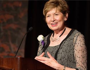 Chancellor Dorothy Horrell receives ATHENA Leadership Award