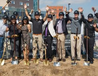 Student energy and vision celebrated at historic groundbreaking for CU Denver Student Wellness Center