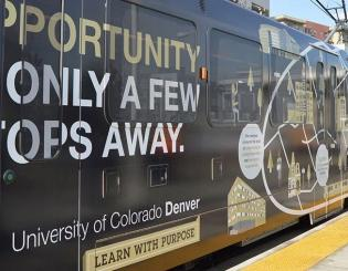 All aboard the CU Denver rail car