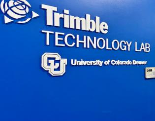 Newly opened technology lab made possible by generous gift from Trimble Inc.