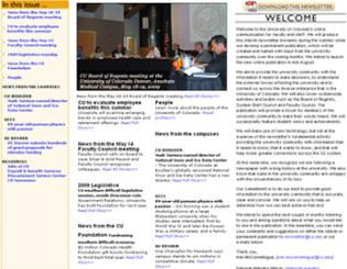 Faculty and Staff Newsletter, 1st edition
