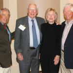 From left, CU School of Medicine alumni Dr. Bill Maniatis ('65), president of the Medical Alumni Association; Dr. Ed Kinzer ('52); Dr. Clara Winter ('65) and Dr. Wag Schorr ('63).