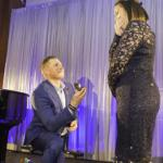 Veteran pops the question in style