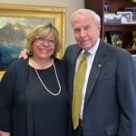 Margarita Bianco with President Bruce Benson