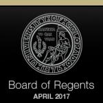 CU Board of Regents April 2017