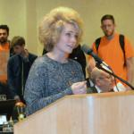 UCCS student Alex Sinchak speaks at Friday's Board of Regents