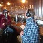 Travis Rupp recording CU On the Air podcast with Ken McConnellogue at Avery Brewery Co., Boulder, CO