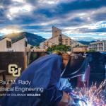 CU Boulder Mechanical Engineering Department gets new name
