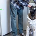 Xenna the service dog helps Navy vet do laboratory research