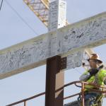Campus invited to sign final piece of steel for Hybl Center