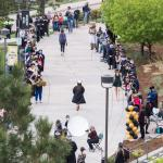 Crowds cheer for graduates at first-ever Picture on the Plaza celebration