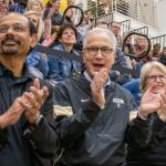 Photo Feature: President Kennedy takes in UCCS basketball victories against Fort Lewis