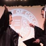Education dean confers master's degree on her daughter