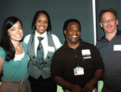 Among the 2011 Employees of the Month were, from left, Sara Honda, Linda Theus-Lee, Newman Forrester and Joseph Kimitch.