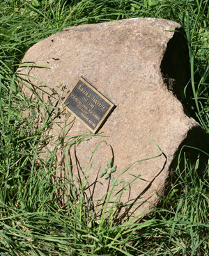 A plaque honors Elaura Jaquette