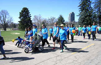 A large group of walkers representing the University of Colorado Anschutz Medical Campus team joined in the March for Babies festivities at City Park on April 27.